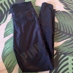 High waisted black Victoria's Secret Pink leggings